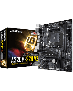 Placa Madre GigaByte A320M-S2H V2 (AM4, DDR4 3200MHz, M2, MicroATX)