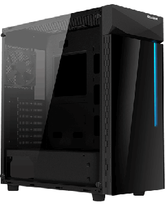 Gabinete Gamer Gigabyte C200, Vidrio Templado, Mid Tower, ATX, MATX, MITX, RGB, Color Negro