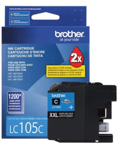 Tinta Brother LC105C Cyan Alto Rendimiento