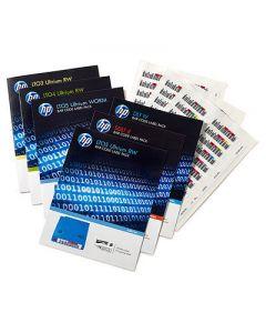 Paquete de etiquetas de código de barras HP LTO-6 Ultrium RW