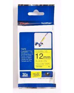Cinta laminada flexible TZE-FX631 - 12 mm Negro / Amarillo