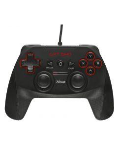 Gamepad PC Trust GXT 540 Wired, Para PC y PS3, 13 botones, 2 palancas de control y panel digital
