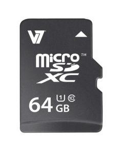 Memoria V7 MicroSDHC 64GB Clase 10 + Adaptador SD