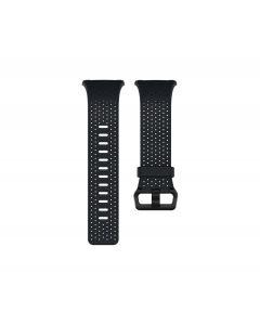 Pulsera de Cuero Fitbit Correa de piel perforada para reloj iónico (grande, azul medianoche)