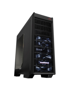 Gabinete GAMEMAX G501X Color Negro Mid Tower ATX 3 x 120mm Ventiladores