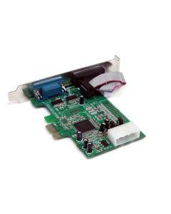 Tarjeta Adaptadora PCI Express PCIe de 2 Puertos Serial RS232 DB9 UART 16550