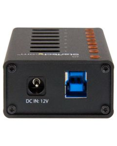 Concentrador USB 3.0 de 7 Puertos con Caja de Metal - Hub de Sobremesa o Montaje en Pared