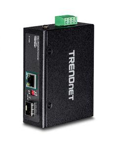 TRENDnet TI-PF11SFP - Conversor de soportes de fibra - GigE - 10Base-T, 100Base-TX, 1000Base-T - RJ-45 / SFP (mini-GBIC) - hasta 40 km