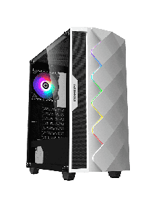 Gabinete Gamemax WHITE DIAMOND RGB - Blanco