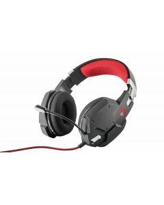 Audifono Gamer Trust GXT 322 Carus, Black, Micrófono flexible y banda de la cabeza ajustable