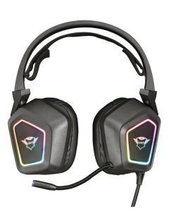 Audifono Gamer Trust GXT 450 Blizz RGB 7.1 Surround, Flujo de iluminación RGB, micrófono flexible