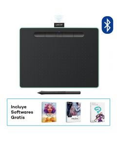 Tableta digitalizadora Wacom Intuos Bluetooth Creative Pen Tablet (mediana, verde pistacho)