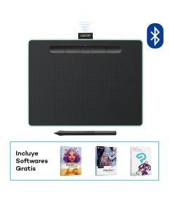 Tableta digitalizadora Wacom Intuos Bluetooth Creative Pen Tablet (mediana, verde pistacho)