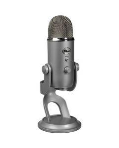 Micrófono USB Blue Yeti, Grabación y transmisión en PC y Mac, Plug & Play, Silver
