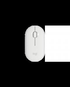Mouse Wireless Logitech Pebble M350, 3 Botones, 1000 DPI, Blanco
