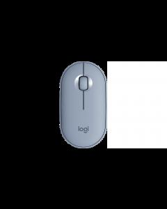 Logitech Pebble M350 - Ratón - óptico - 3 botones - inalámbrico - Bluetooth, 2.4 GHz - receptor inalámbrico USB - gris azulado
