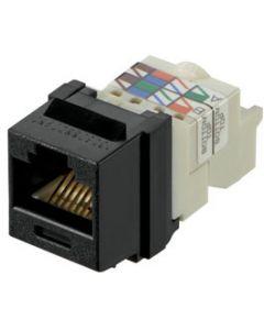 Panduit Conector UTP Jack Module - Inserto modular - negro - 1 puerto