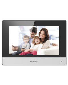 "Videoportero Hikvision DS-KH6320-WTE1, Monitor 7"", Altavoz, Inalámbrico, Negro/Blanco"