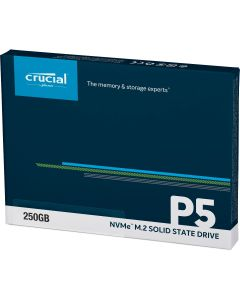 Unidad Estado Solido Crucial P5, M.2 NVMe, 250GB, PCI-e x4, Lectura 3400Mb/s, Escritura 1400Mb/s
