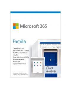 Licencia Microsoft Office 365 Family, 1 año, para 6 Personas con 5 dispositivos + 1TB en one Drive