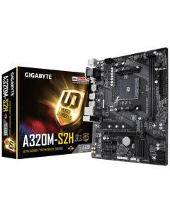 Placa Madre Gigabyte GA-A320M-S2H, microATX, Socket AM4, AMD A320