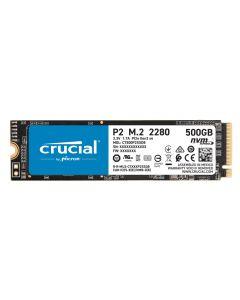 Unidad SSD 500GB Crucial P2 500GB PCIe NVMe Gen 3, Lectura 2.300MB/s, Escritura 940MB/s