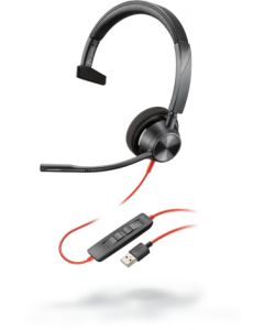 Auriculares Profesionales Poly Blackwire 3325, Microsoft, USB-C, 3.5mm