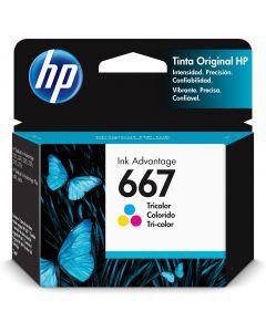 HP- Cartucho de Tinta HP 667, Tricolor