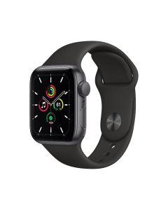 Apple Watch SE GPS, 40 mm, caja de aluminio gris espacial, correa deportiva negra
