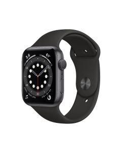 Apple Watch Series 6 GPS, 44 mm, caja de aluminio gris espacial, correa deportiva negra