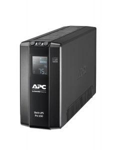 SAI Back UPS Pro BR 650 VA, 6 tomas de salida, AVR, interfaz LCD