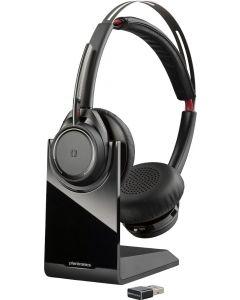 Auriculares Plantronics Voyager Focus UC, Bluetooth, con Cancelación de Ruido, Binaural, Negro