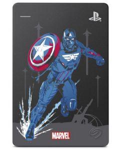 Disco duro externo Seagate Edición Especial Capitán América, 2TB, USB 3.1, 2,5'', PS4