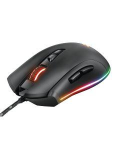 Mouse Gamer Trust GXT 900 Qudos RGB, 15000DPI, 7 Botones, Negro