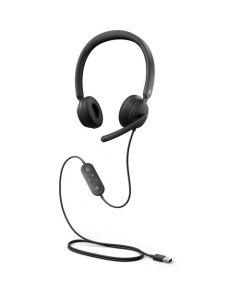 Auriculares - Supraurales - Con cable - USB - Negro - Certificado para equipos de Microsoft