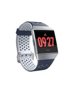 Fitbit Ionic Adidas Edition - aluminio gris plateado - reloj inteligente con pulsera deportiva - azul /gris hielo