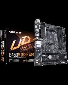 Gigabyte B450M DS3H WIFI - 1.0 - placa base - micro ATX - Socket AM4 - AMD B450 - USB 3.1 Gen 1 - Bl
