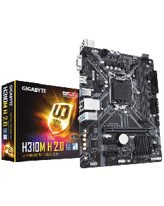 Placa madre GIGABYTE - Micro ATX - Intel H310M H 2.0 - Para Core i3 / i5 / i7 / Celeron / Pentium - Intel HD Graphics SOCKET 1151