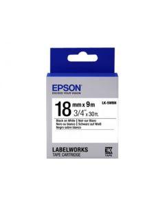 Epson LabelWorks LK-5WBN - cinta de etiqueta - 1 bobina(s) - Rollo (1,8 cm x 9 m)