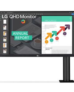 Monitor LG 27QN880-B QHD Ergo IPS de 27'' con USB Tipo-C™, DisplayPort, 2x HDMI