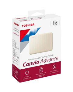 Disco Duro Pórtatil Toshiba Canvio Advance HDTCA10XW3AA - Externo - 1TB - Blanco