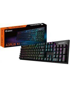Aorus - Teclado - Cableado- USB - Black - MX Red  RGB