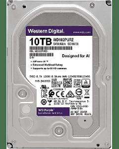 """Disco Duro WD Purple WD102PURZ 10TB SURVEILLANCE 7200RPM - INTERNO - 3.5"""" - SATA 6GB/S - 7200 RPM"""