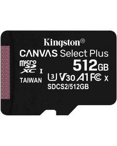 Memoria MicroSDXC 512GB Kingston Canvas Select Plus 100R A1 C10, Lectura hasta 100MB/s