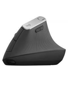 Logitech MX Vertical - Ratón - ergonómico - óptico - 6 botones - inalámbrico, cableado - Bluetooth, 2.4 GHz - receptor inalámbrico USB - grafito
