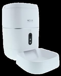 Dispensador inteligente de alimento para mascotas Nexxt, Camara 1080p, Conexión Wi-Fi