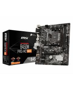 Placa Madre MSI PRO B450M PRO-M2 MAX, Socket AM4 AMD Ryzen, SATA 6Gb/s Micro ATX