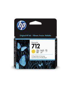 Cartucho de tinta original HP 712 amarillo de 29 ml para impresoras DesignJet T650, T630, T230, T210