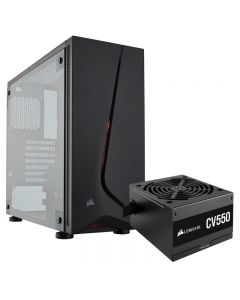 Gabinete Corsair Carbide SPEC-05 USB3 2 Ventiladores LED Fuente CV550 550W 80 Plus