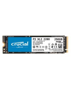 Disco SSD 250GB Crucial P2 PCIe NVMe Gen 3, Lectura 2.100MB/s, Escritura 1.150MB/s
